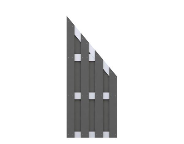 Traumgarten Anschluß-Zaun Jumbo WPC anthrazit - ALU Nr.2079