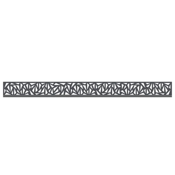 Tr. System Dekorprofil Trigon anthrazit, flach  Nr. 3292