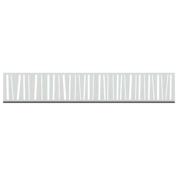 Tr. System Dekorprofil Linea silber, hoch  Nr. 3299