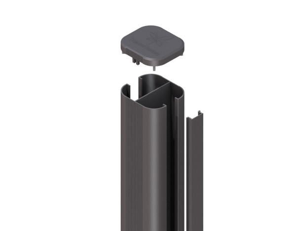 System WPC Pfosten Basic erdverbau, anthrazit 7,2x6,6x298 cm Nr. 2360