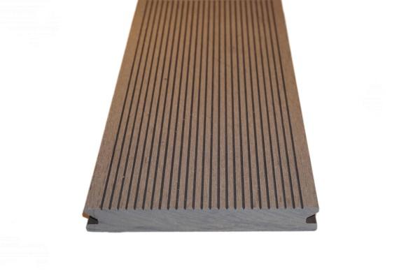 20 x 140 mm WPC Nature Deck Trend MASSIVPROFIL dunkelbraun