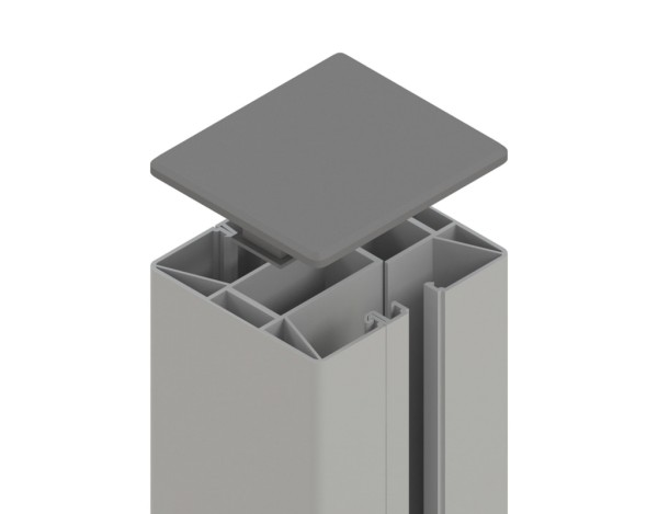 Tr. Glassystem Klemmpfosten Silber 88x74x1050 mm, Nr.2312