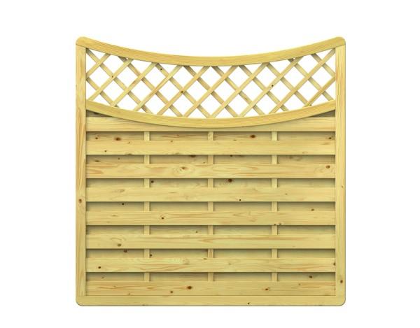 Traumgarten XL Schwung-Zaun mit Gitter Nr. 1177