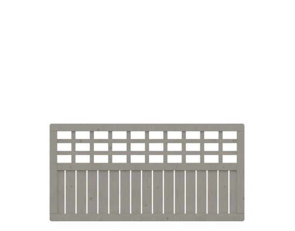 Traumgarten Rechteckzaun Como mit Gitter, grau las. 178 x 89 Nr. 1327