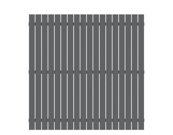 Alu-Zaun Squadra anthrazit 180 x 180 cm, Nr. 2425