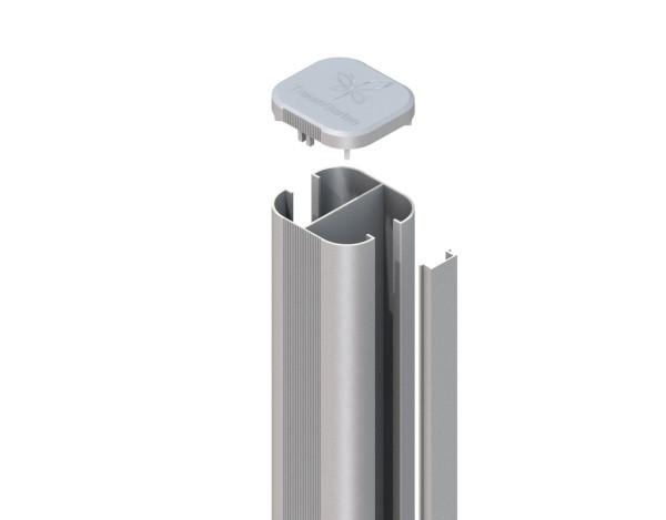 System WPC Pfosten Basic erdverbau silber 7,2x6,6x150 cm Nr. 2362