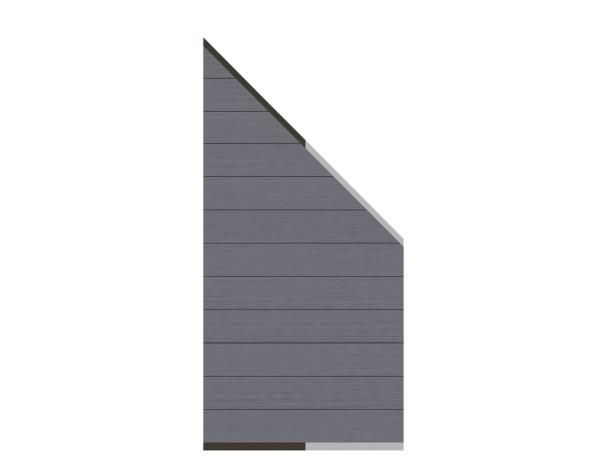 System WPC Zaun-Anschluss-Set anthrazit 89 x 180 cm  Nr. 2820