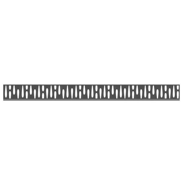 Tr. System Dekorprofil Omega anthrazit, flach  Nr. 2433