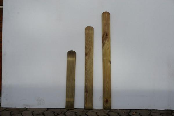 Staketenzaunlatte Föhr 9 x 100 x 2 cm druckimprägniert,Kanten rund