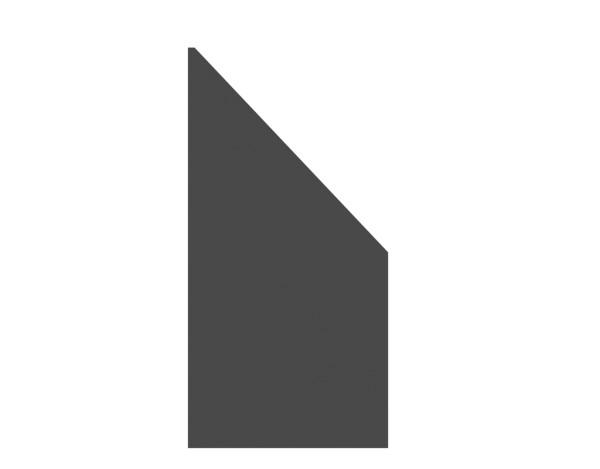 Tr. Board Anschluß schiefer 90 x 180/90 cm, Nr. 2728