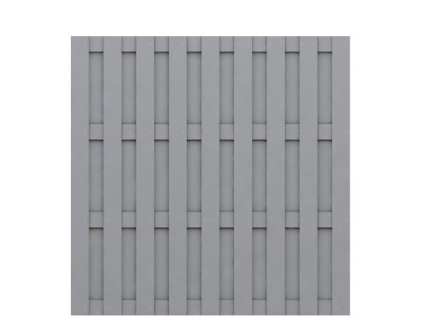 Traumgarten Rechteck-Zaun Jumbo WPC grau Nr.2210