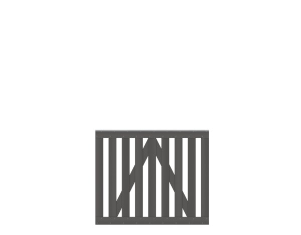 Raja WPC-Tor anthrazit 101,5 x 85  Nr. 2111