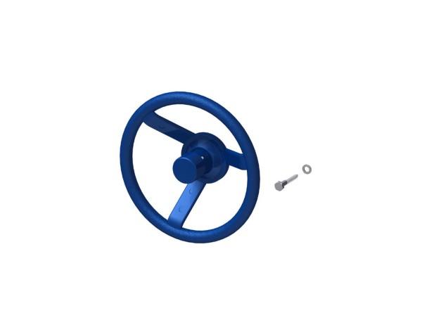 Winnetoo Lenkrad mit Hupe blau Nr. 4202