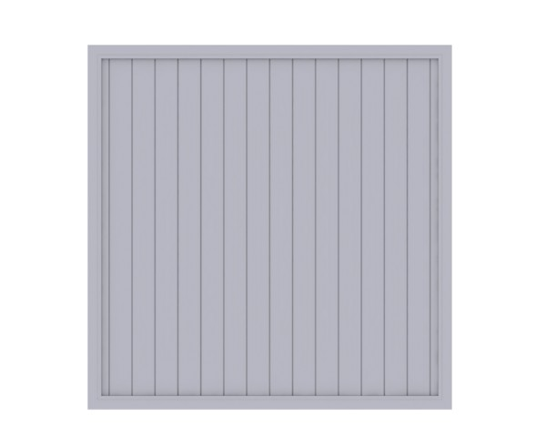 LongLife Riva gerade Grau 180 x 180 cm, Nr. 1831