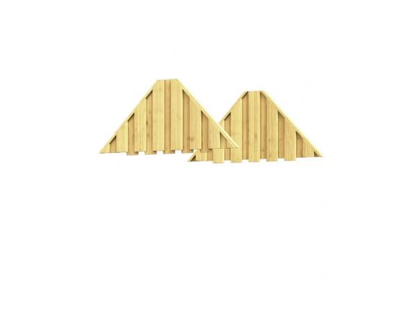 Winnetoo Giebel für Spielturm, 2-er Set, Nr. 1656