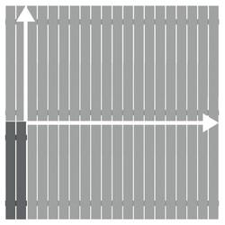 Alu-Zaun Squadra anthrazit auf Maß 101-200 x 101-200 cm, Nr. 2426
