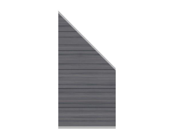 System Platinum XL Zaun-Anschluss-Set grau  89 x 180 cm  Nr.2828
